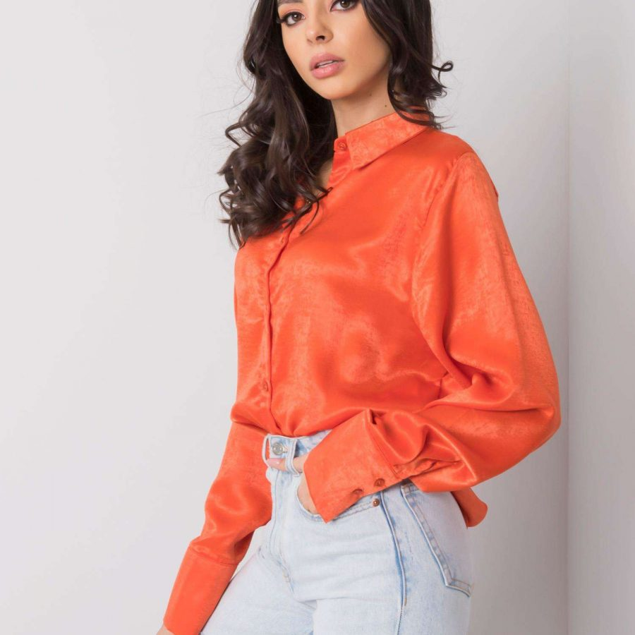Koszula-269-KS-0415.80P-ciemny pomarańczowy