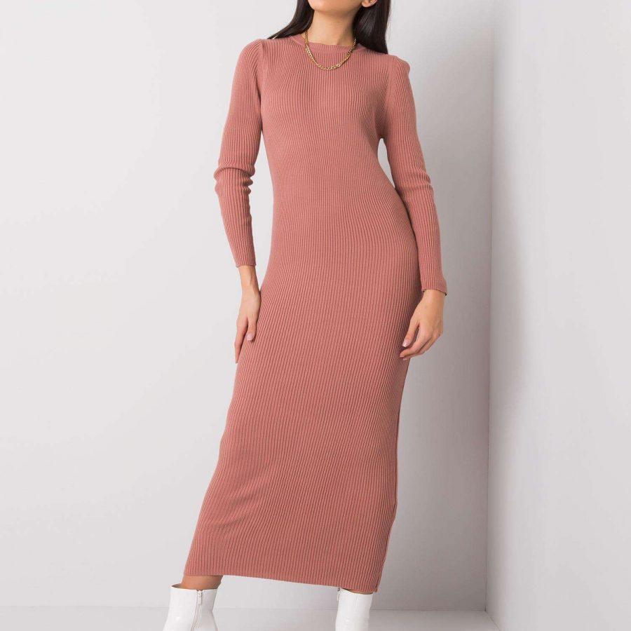 Sukienka-100-SK-6194.13P-ciemny różowy