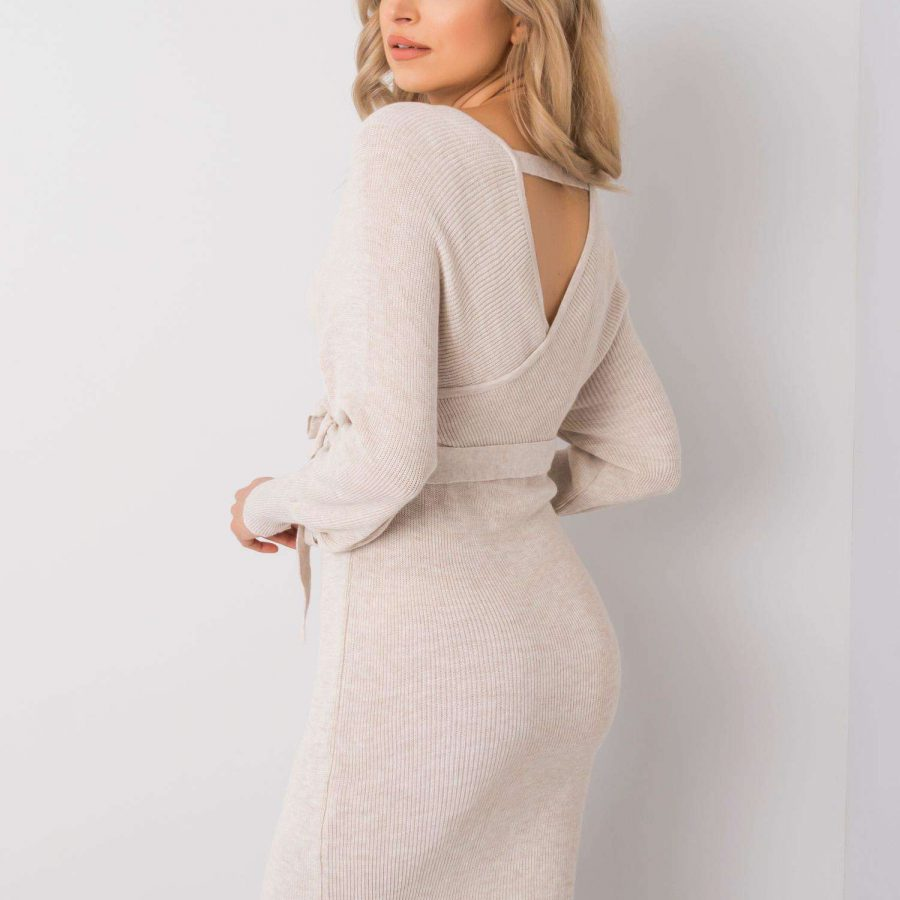 Sukienka-179-SK-2386.20-jasny beżowy