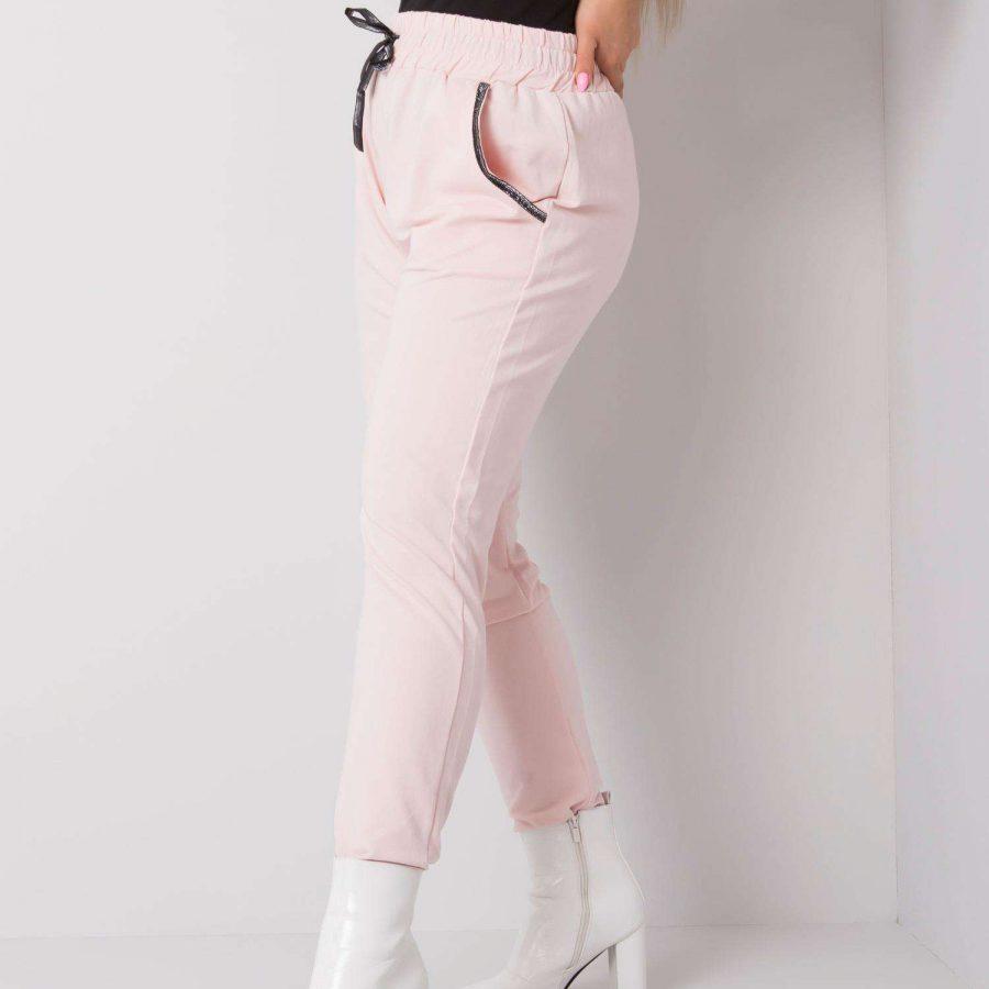 Spodnie dresowe-RV-DR-4765.52-jasny różowy