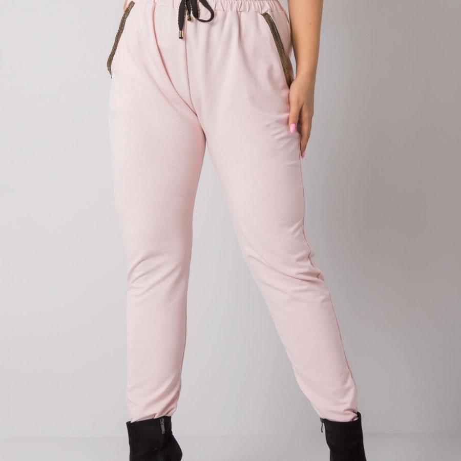 Spodnie dresowe-RV-DR-5544.37P-jasny różowy