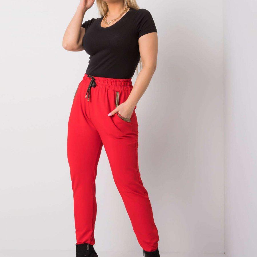 Spodnie dresowe-RV-DR-5544.37P-czerwony