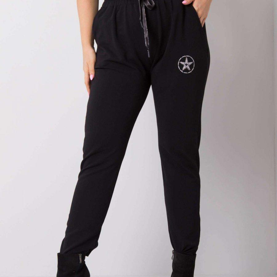 Spodnie dresowe-RV-DR-5553.05P-czarny