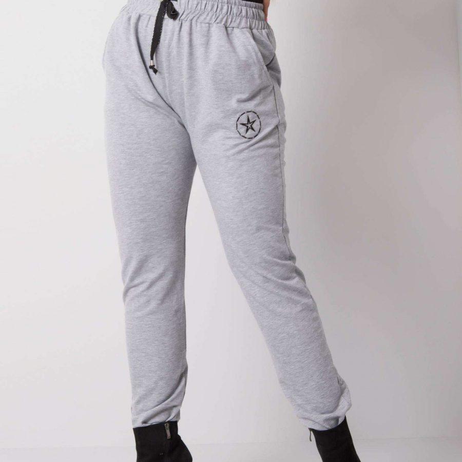 Spodnie dresowe-RV-DR-5553.05P-szary
