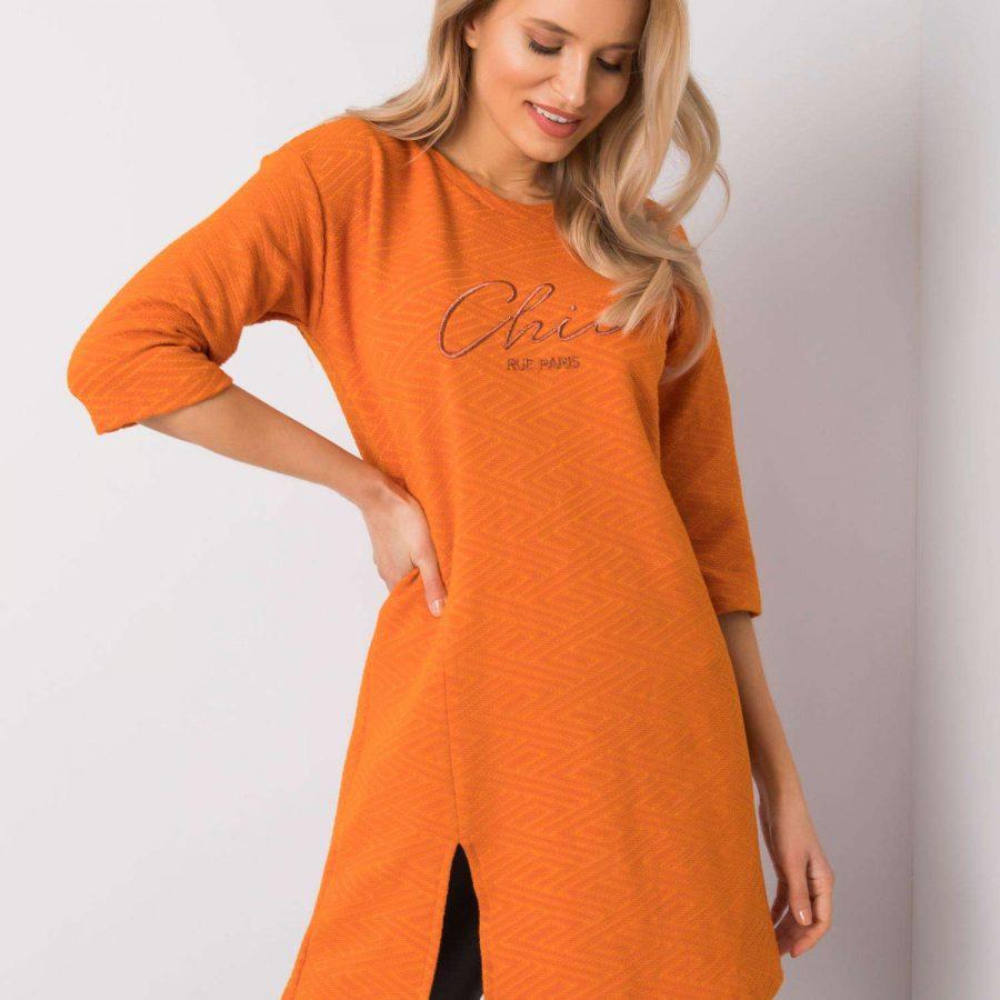 Sukienka-TK-RP-SK-S0003.37P-pomarańczowy