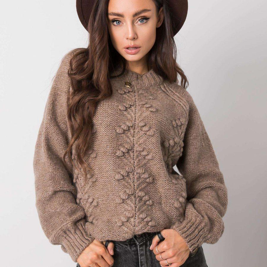Sweter-272-SW-101253.52-ciemny bezowy