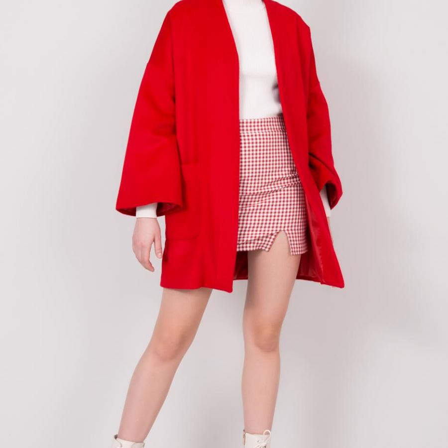 Płaszcz-15588-czerwony
