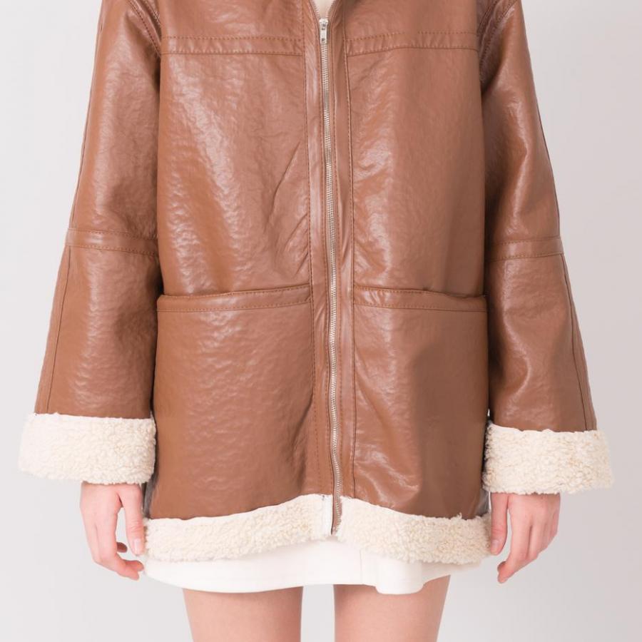 Płaszcz-15608-brązowy