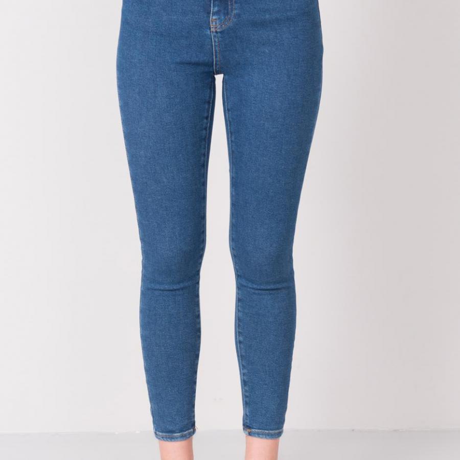Spodnie jeans-15676-niebieski