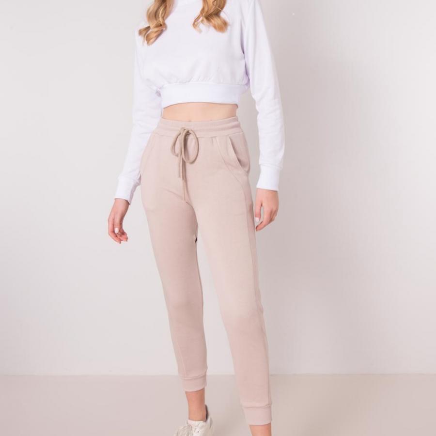 Spodnie dresowe-15838-beżowy