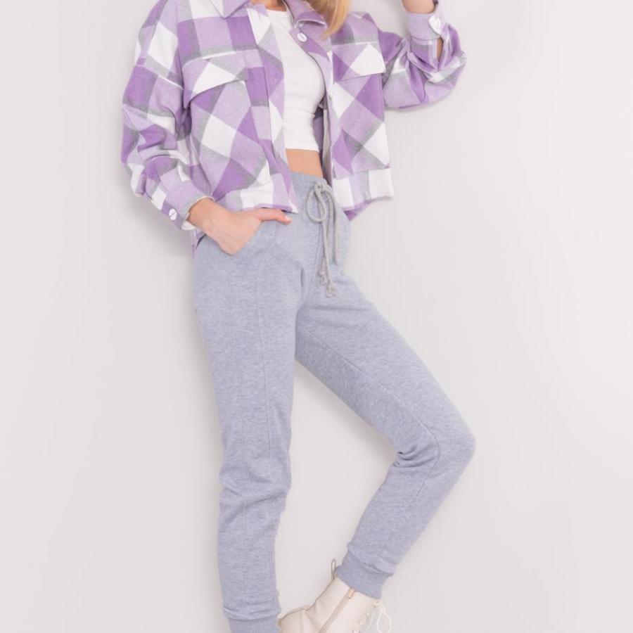 Spodnie dresowe-15838-szary