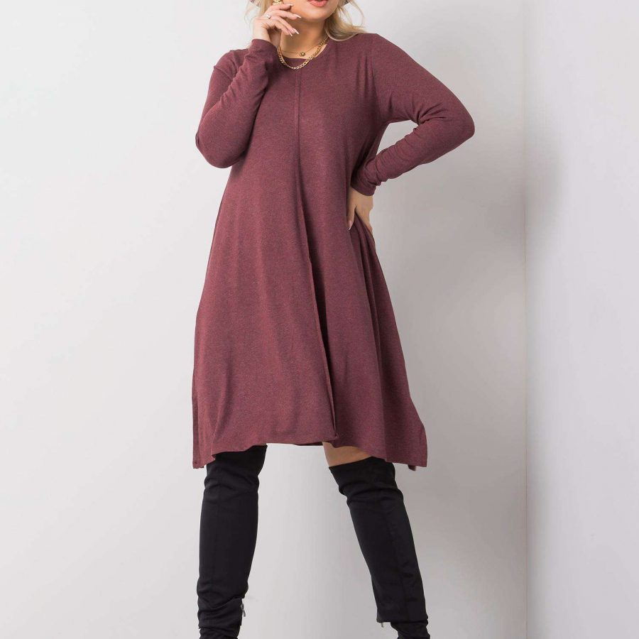 Sukienka-TO-SK-51811.31P-bordowy
