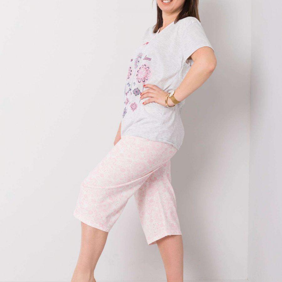 Piżama-SY-PI-2743-jasny szary