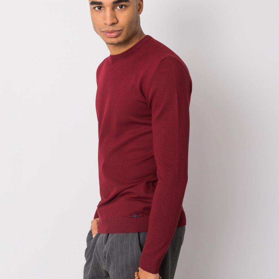 Sweter-TIK-K21-0094-bordowy