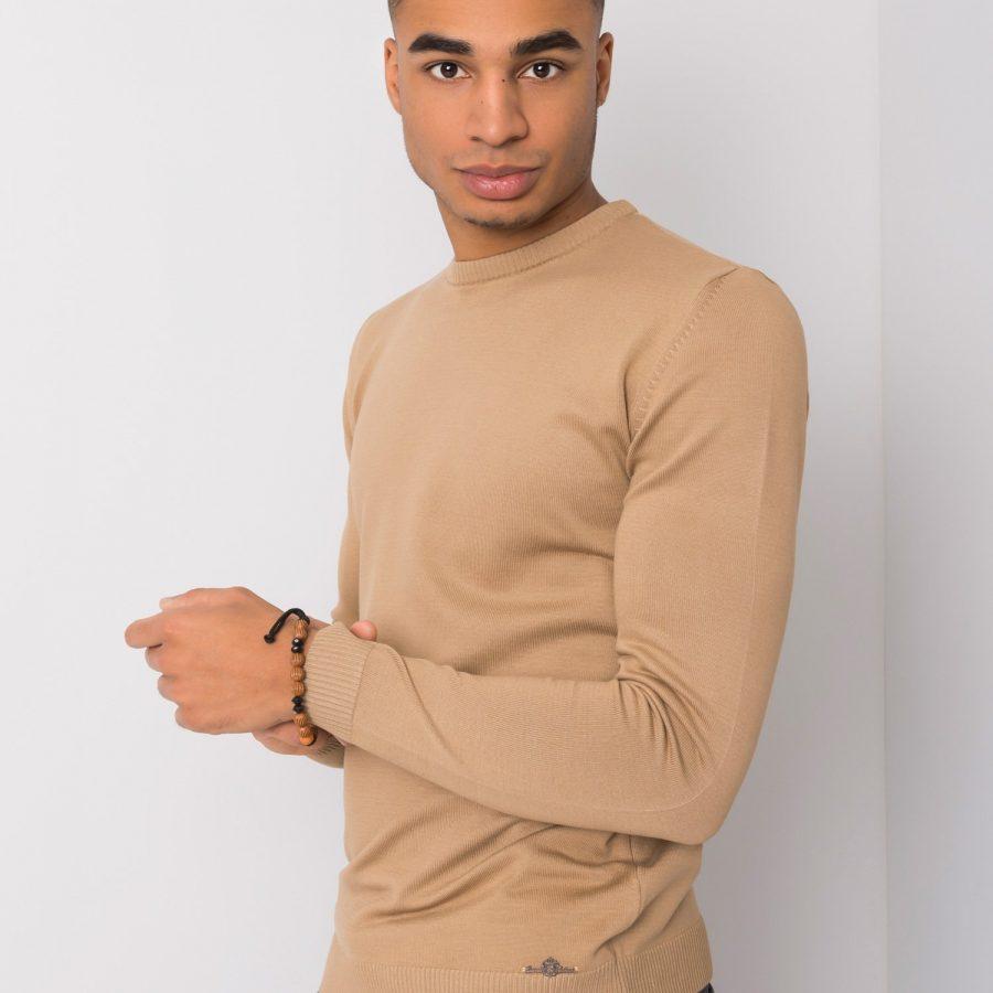 Sweter-TIK-K21-0094-ciemny bezowy
