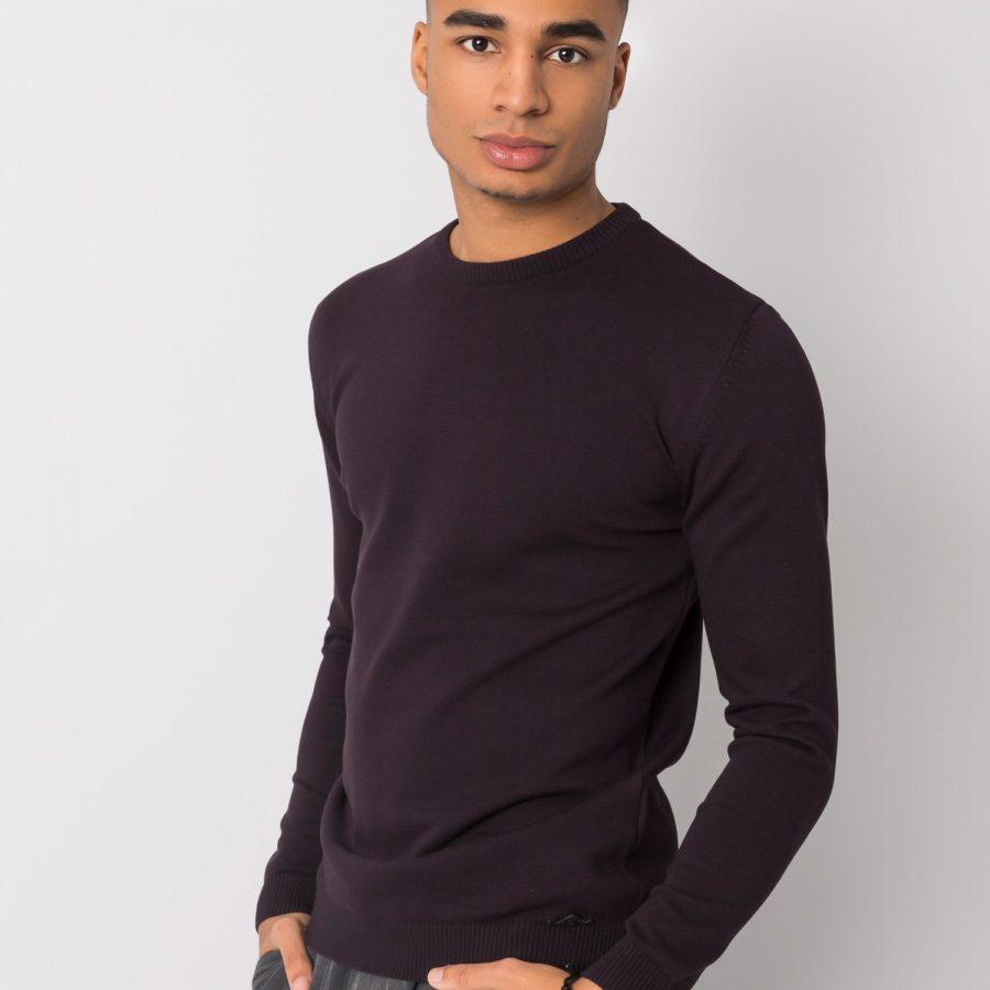 Sweter-TIK-K21-0094-ciemny fioletowy