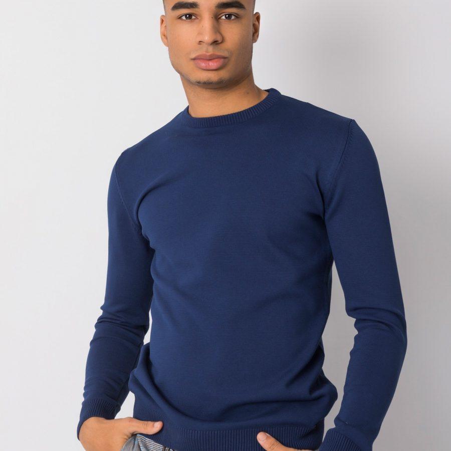 Sweter-TIK-K21-0094-ciemny niebieski