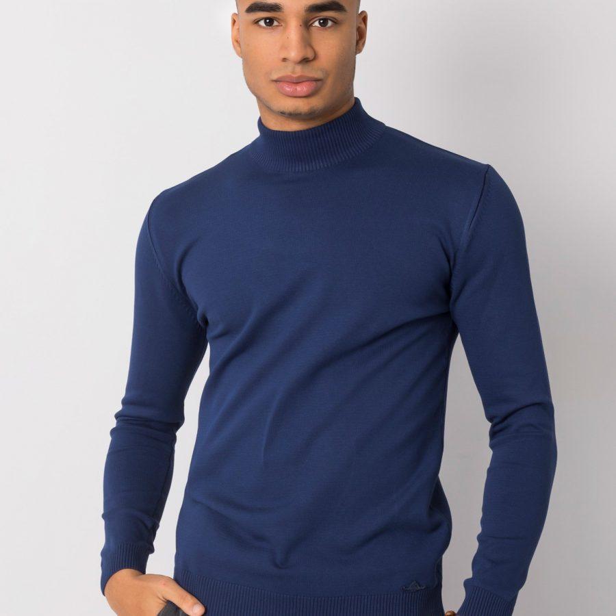 Sweter-TIK-K21-0095-ciemny niebieski