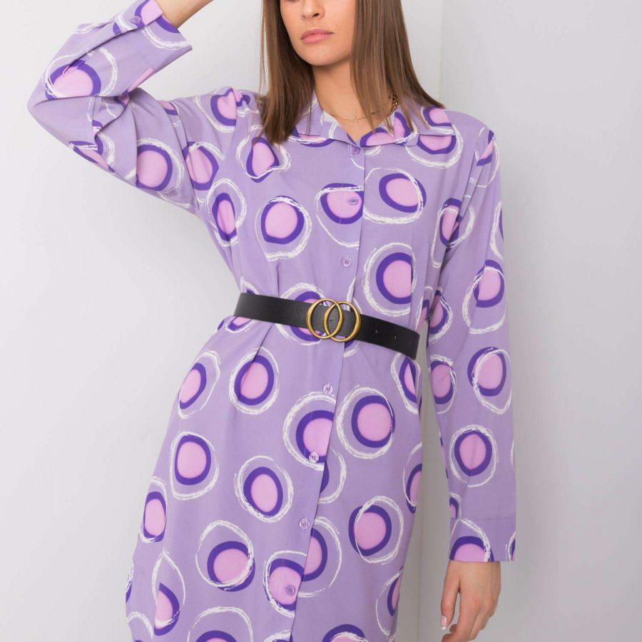 Sukienka-DHJ-SK-12765.11-fioletowy