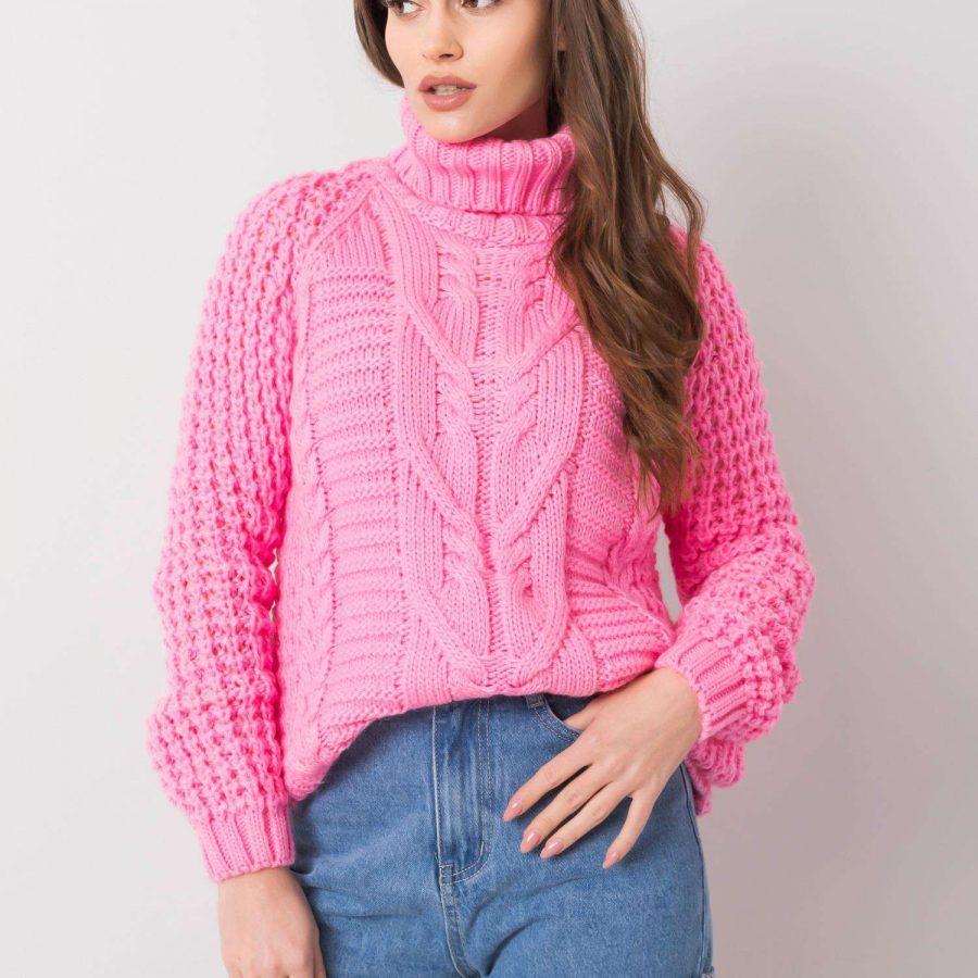 Sweter-CA-SW-3727.12X-różowy