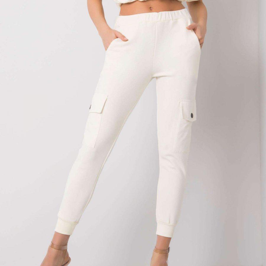 Spodnie dresowe-217-DR-24330.41P-ecru