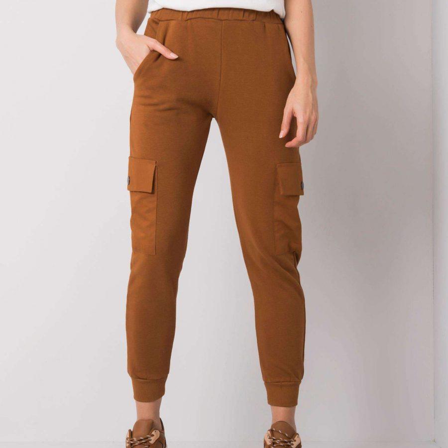 Spodnie dresowe-217-DR-24330.42P-brązowy