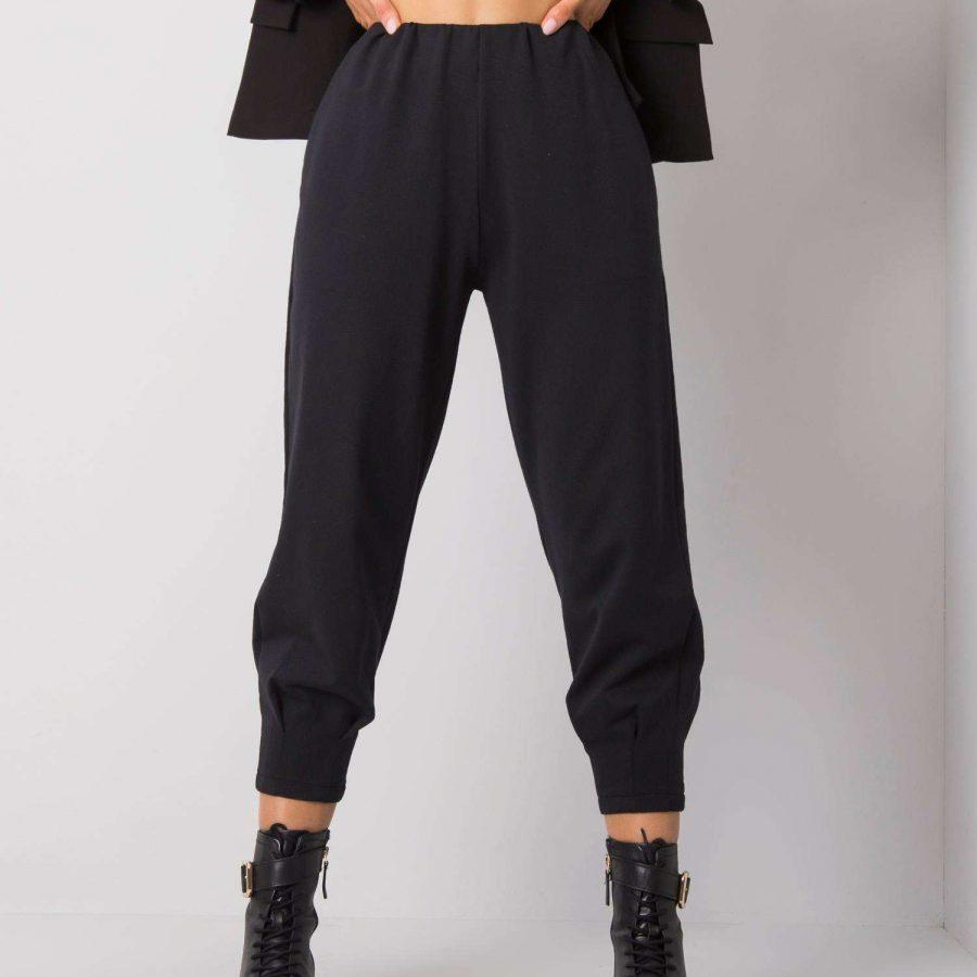 Spodnie dresowe-217-DR-25676.77P-czarny