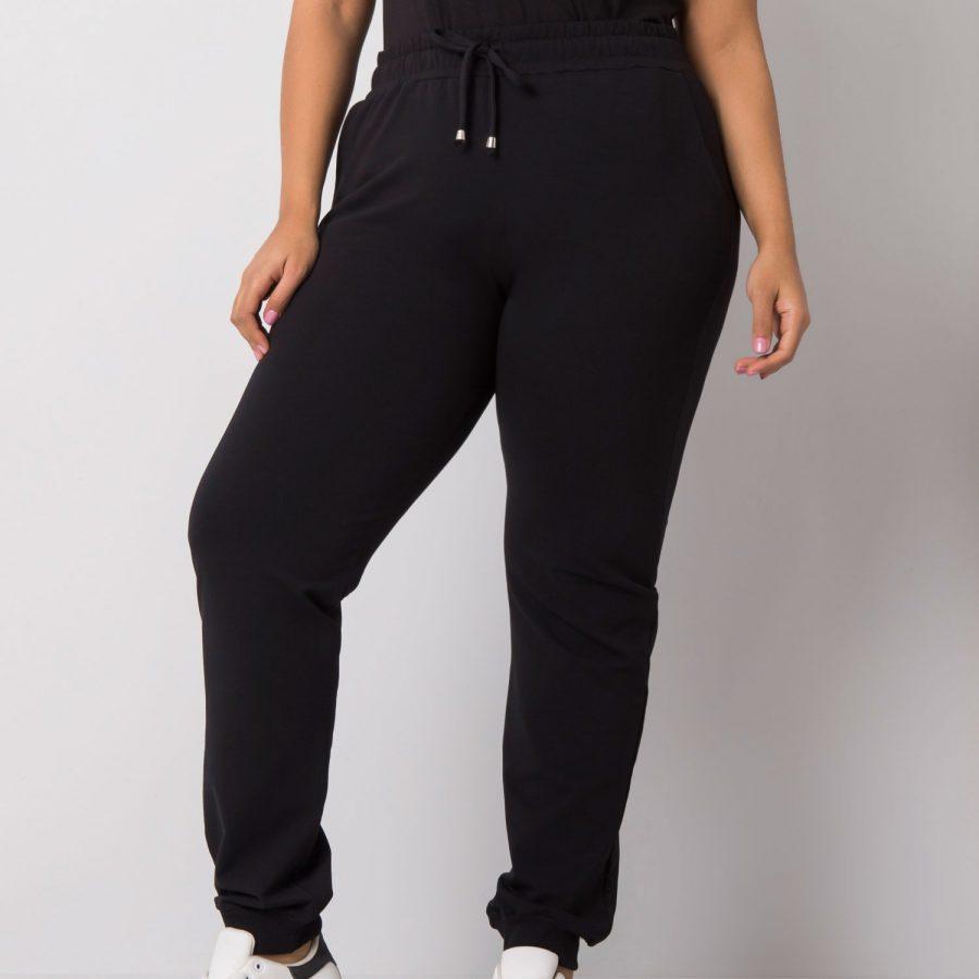 Spodnie dresowe-RV-DR-6301.88-czarny