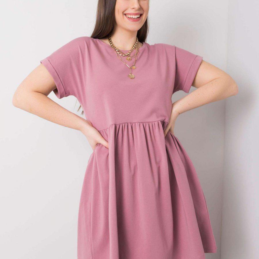 Sukienka-RV-SK-6292.09P-ciemny różowy