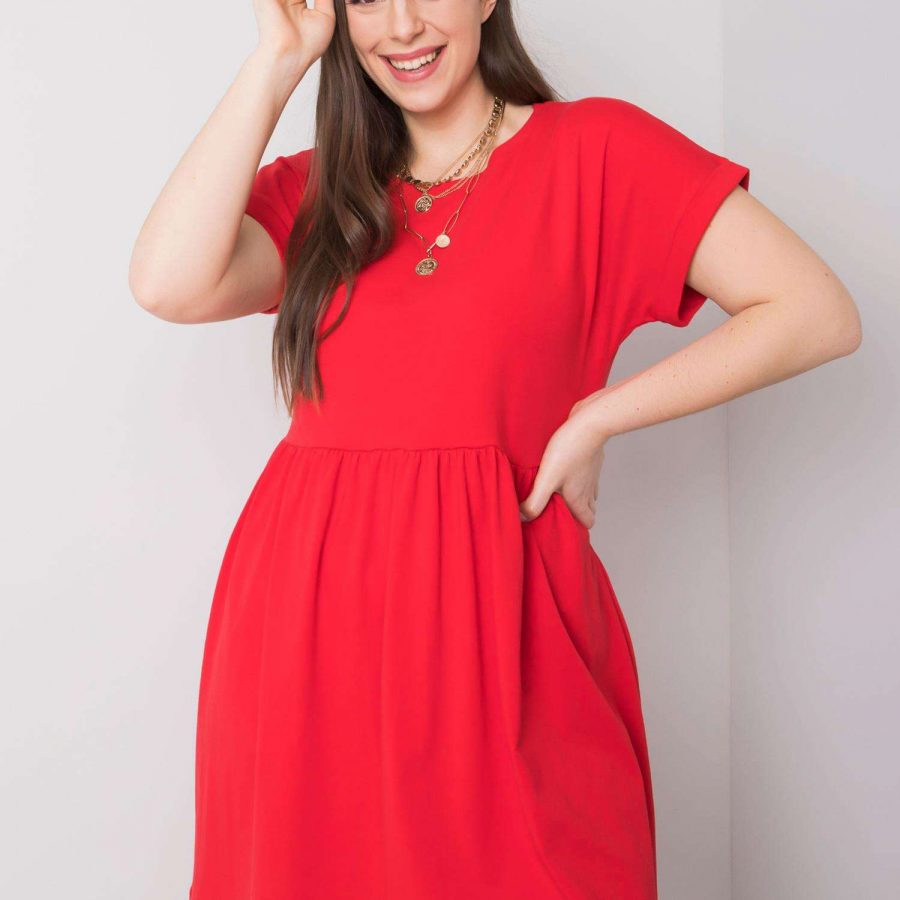 Sukienka-RV-SK-6292.09P-czerwony