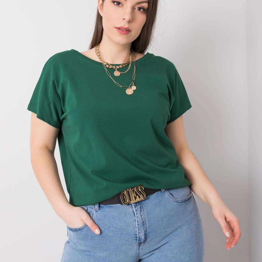 T-shirt-RV-TS-6297.08P-ciemny zielony