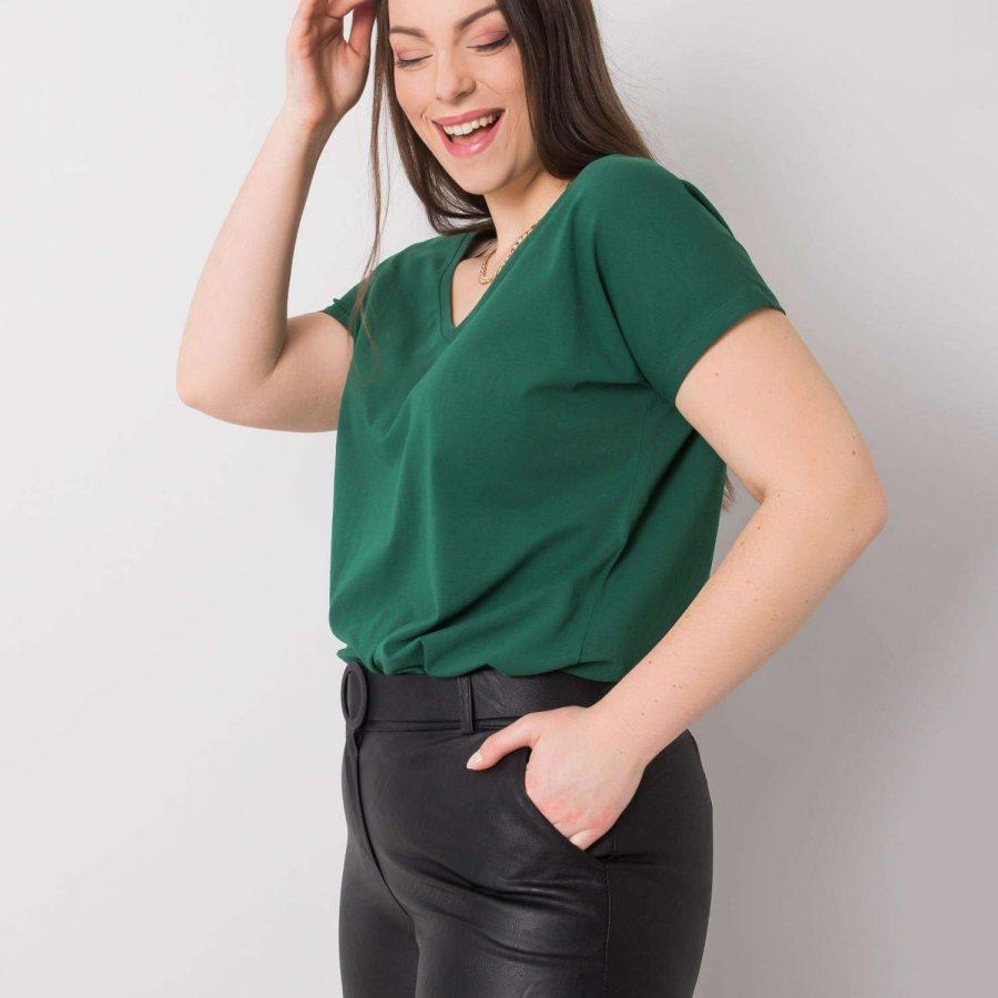 T-shirt-RV-TS-6305.22P-ciemny zielony
