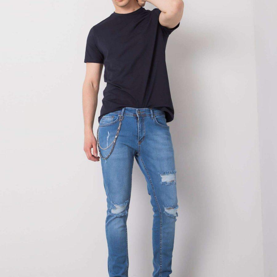 Spodnie jeans-SKN0104-522-niebieski