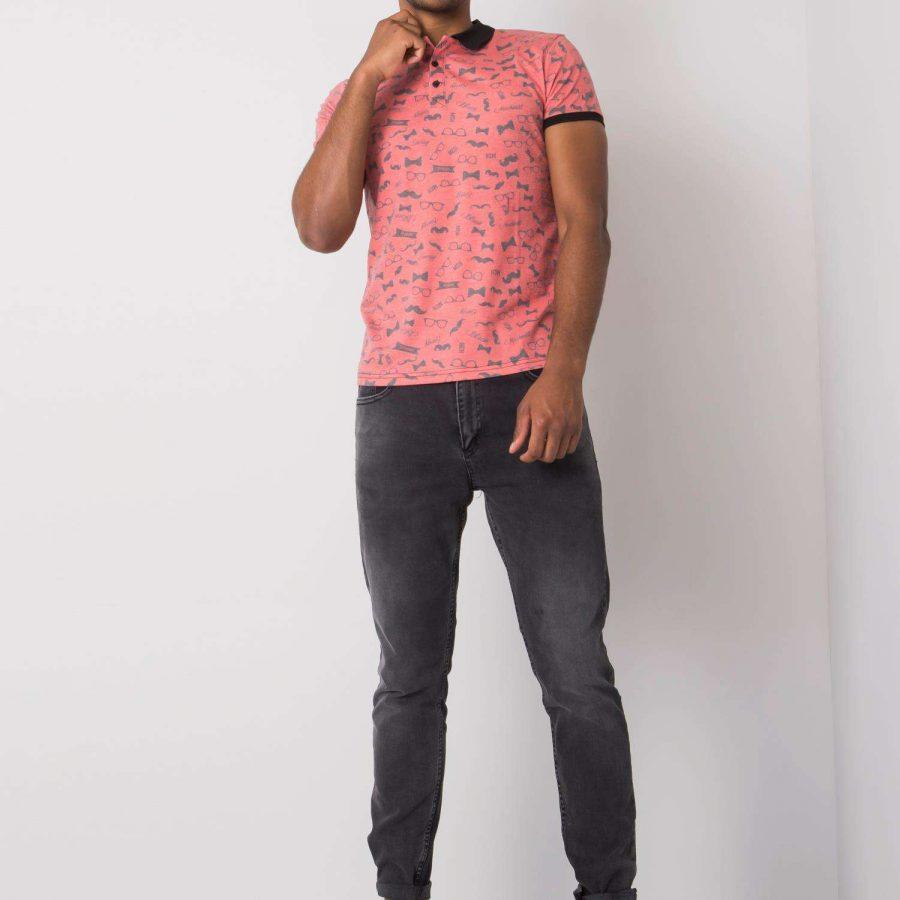 Spodnie jeans-PSLM034-525-czarny
