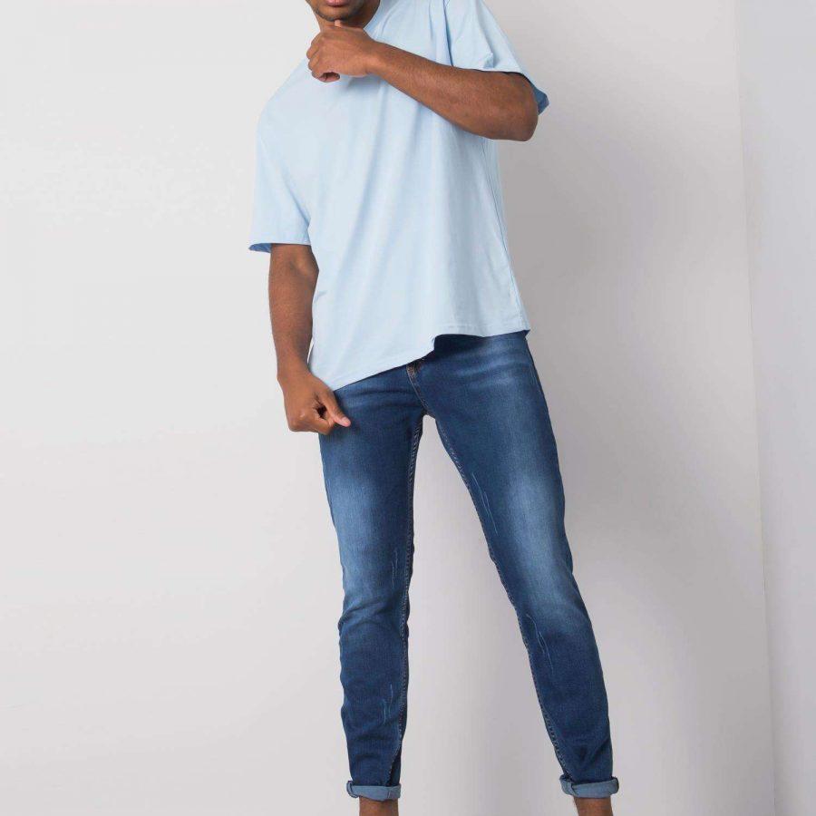 Spodnie jeans-PSLM034-522-niebieski